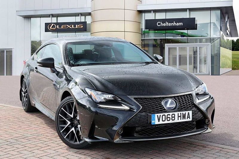 pre owned lexus rc 300h 2 5 f sport black edition sunroof ulez approved by lexus cheltenham. Black Bedroom Furniture Sets. Home Design Ideas